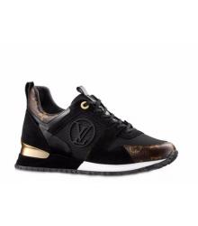 5c7f8cb1ef8f Скидки Кроссовки женские Louis Vuitton (Луи Виттон) Run Away кожаные Black