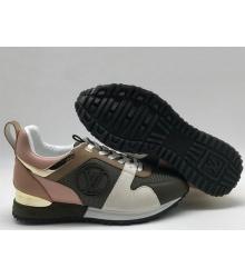ee75a313a67c Скидки Женские кроссовки Louis Vuitton (Луи Виттон) Run Away кожаные  Black Pink White