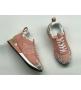 Женские кроссовки Louis Vuitton (Луи Виттон) Run Away кожаные с золотой вставкой Pink