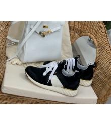 Женские кроссовки Louis Vuitton (Луи Виттон) Aftergame летние текстиль Black