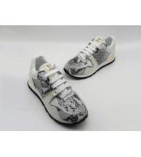 Женские кроссовки Louis Vuitton (Луи Виттон) Run Away текстиль рептилия White