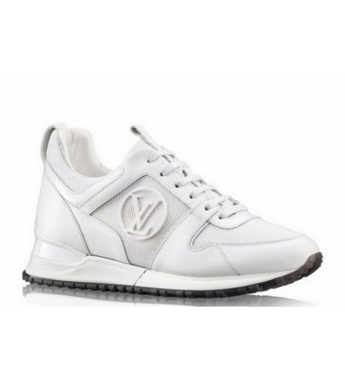 Женские кроссовки Louis Vuitton (Луи Виттон) Run Away White