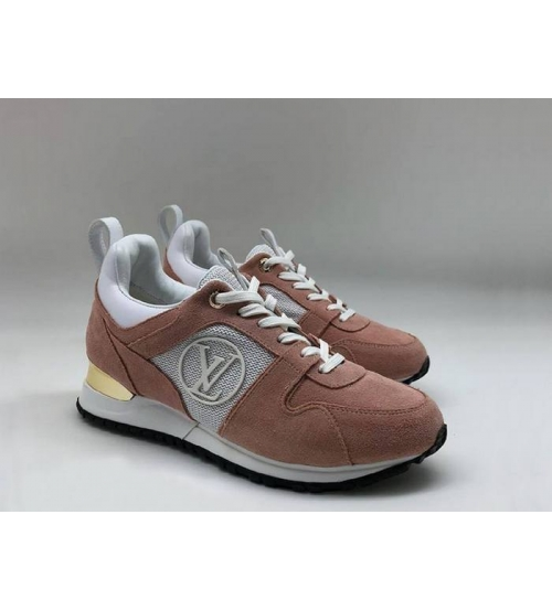 Женские кроссовки Louis Vuitton (Луи Виттон) Run Away замшевые Brown