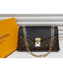 Женская сумка Louis Vuitton (Луи Виттон) с цепочкой Brown/Black