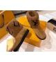 Ботинки женские Louis Vuitton (Луи Виттон) Snowdrop выполнены из овчины и замшевой кожи телёнка Brown
