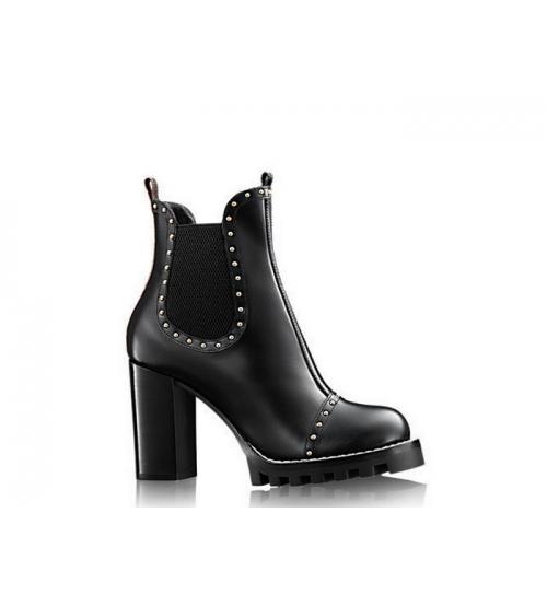 Женские ботильоны Louis Vuitton (Луи Виттон) Star Trail Ankle Boot кожаные Black