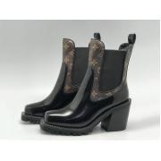 Женские ботильоны Louis Vuitton (Луи Виттон) Star Trail Ankle Limitless кожаные Black