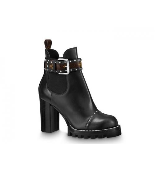 Женские ботильоны Louis Vuitton (Луи Виттон) Star Trail Chelseaa Ankle Boot кожаные Black