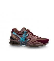 Кроссовки мужские Louis Vuitton (Луи Виттон) Trail комбинированные Brown/Bordo