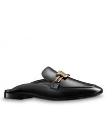 Женские лоферы Louis Vuitton (Луи Виттон) Upper Case кожаные Black