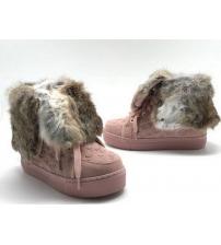 Кеды зимние женские Louis Vuitton (Луи Виттон) замшевые на меху Pink
