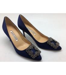 Туфли женские Manolo Blahnik (Маноло Бланко) Dark Blue
