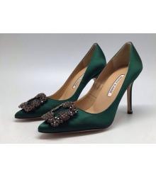 Туфли женские Manolo Blahnik (Маноло Бланко) Green