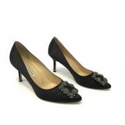 Женские туфли Manolo Blahnik (Маноло Бланко) Hangisi средний каблук Black