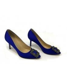 Женские туфли Manolo Blahnik (Маноло Бланко) Hangisi средний каблук Blue