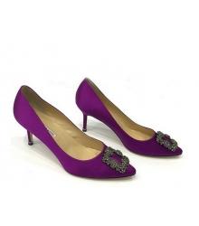 Женские туфли Manolo Blahnik (Маноло Бланко) Hangisi средний каблук Purple