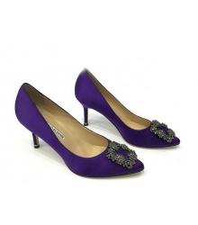Женские туфли Manolo Blahnik (Маноло Бланко) Hangisi средний каблук Violet
