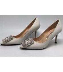 Туфли лодочки женские Manolo Blahnik (Маноло Бланко) Hangisi White