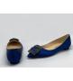 Балетки женские Manolo Blahnik (Маноло Бланко) Hangisiflat Blue