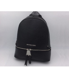 Женский рюкзак Michael Kors (Майкл Корс) Rhea Black/Silver