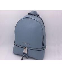 Женский рюкзак Michael Kors (Майкл Корс) Rhea Dark Blue/Silver