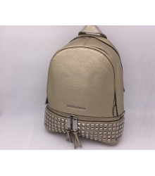Женский рюкзак Michael Kors (Майкл Корс) Rhea Gold/Silver