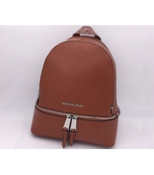 Женский рюкзак Michael Kors (Майкл Корс) Rhea кожаный Brown