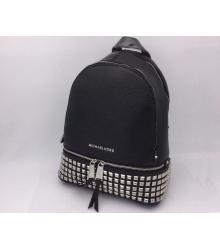 Женский рюкзак Michael Kors (Майкл Корс) Rhea с клепками Black
