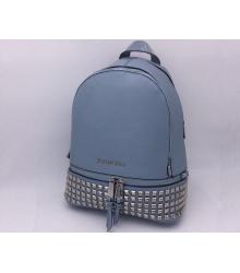 Женский рюкзак Michael Kors (Майкл Корс) Rhea с клепками Blue