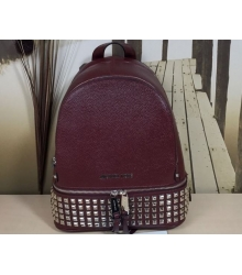 Женский рюкзак Michael Kors (Майкл Корс) Rhea с клепками Bordo
