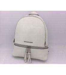 Женский рюкзак Michael Kors (Майкл Корс) Rhea White/Silver