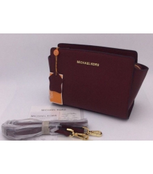 Женская сумка Michael Kors (Майкл Корс) Selma Small Bordo