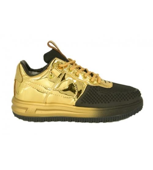 Кроссовки Nike Air Force Lunar Duckboot (Найк Аир Форс) Gold