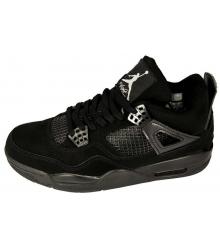 Баскетбольные кроссовки Nike Air Jordan 4 New Black