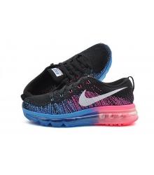 Кроссовки женские Nike Air Max 2015 Flyknit (Найк Флайкнит) Black/Blue/Pink