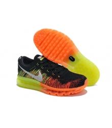 Кроссовки Nike Air Max 2015 Flyknit (Найк Флайкнит) Black/Orange/Green