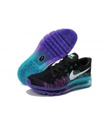Кроссовки женские Nike Air Max 2015 Flyknit (Найк Флайкнит) Blue/Black/Purple