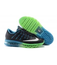 Кроссовки мужские Nike Air Max 2016 (Найк Аир Макс) Black/Green/Blue