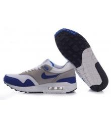 Кроссовки Air Max 87 Nike (Найк Аир Макс 87) White/Blue/Grey