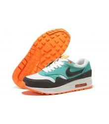 Кроссовки мужские Nike (Найк Аир Макс) Air Max 87 White/Green/Orange