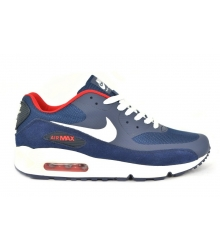 Кроссовки Nike Air Max 90 Red/BlackBlue/White/Red