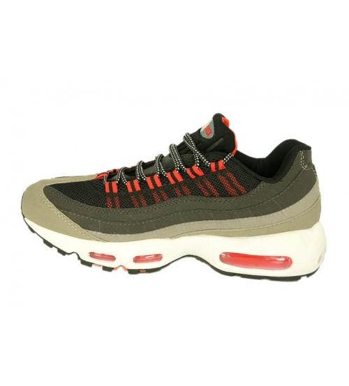 Кроссовки спортивные Nike Air Max 95 (Найк Аир Макс) Grey/Red