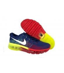 Кроссовки мужские Nike Air Max Flyknit (Найк Флайкнит) Blue/Red/Yellow
