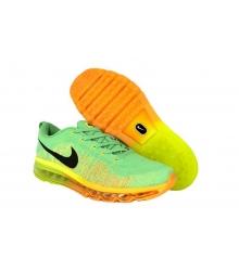 Кроссовки мужские Nike Air Max Flyknit (Найк Флайкнит) Green/Orange