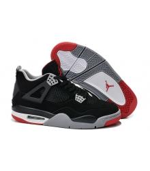 Баскетбольные кроссовки женские Nike Air Jordan (Найк Джордан) 4 IV Black/Grey/Red