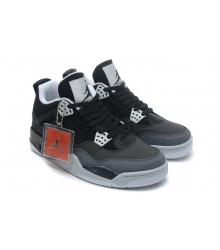Баскетбольные кроссовки женские Nike Air Jordan (Найк Джордан) IV Black/Grey