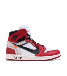 Баскетбольные мужские кроссовки Nike Off-White Air Jordan (Найк Джордан) Red