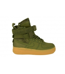 Кроссовки Nike SF Air Force 1 (Найк Аир Форс) на липучках Green