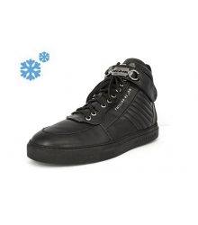 Зимние ботинки Philipp Plein Blade Black High Winter
