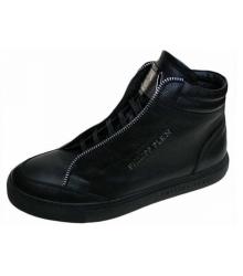 Кроссовки мужские Philipp Plein (Филипп Плейн) брендовые Black